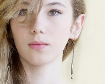 Long Drop Earrings, Long Dangle Earrings, Pendant Earrings, Statement Wedding Earrings, Statement Bridal Jewelry