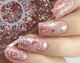 SPELL POLISH ~Shake it Like a Polaroid Picture~ GLITTERBOMB baby pink glitter nail polish!