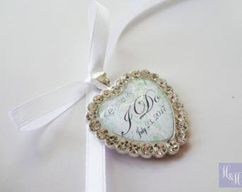 Personalised I Do Wedding Bouquet Photo Memory Charm Bridal Party Gift Keepsake Momento - Heart