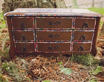 Wildflower Love LARGE upcycled Jewelry Box
