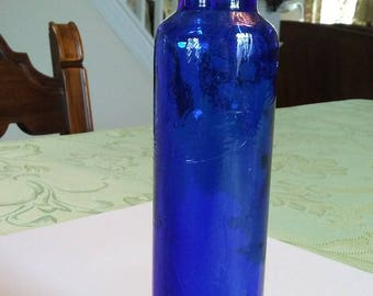 Brilliant Cobalt Blue Bud Vase Bottle