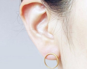 Open Circle / Round / Studs / Earrings / Gold / Hipster / Trendy / Everyday / Simple / Dainty / Minimalist / Petite