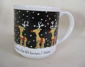 Vintage Boynton Christmas Mug