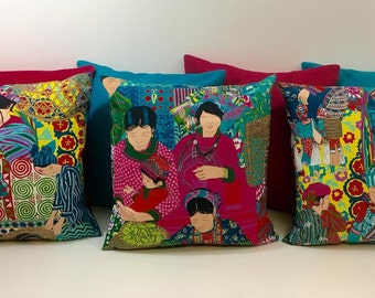 Manuel Canovas Voyage en chine - Turquorse  Cushion Covers - Pillow Throws Beautiful Fabric - many sizes available