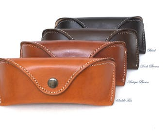 Glasses case  for Aviators /Wayfarers Vegetable tanned leather
