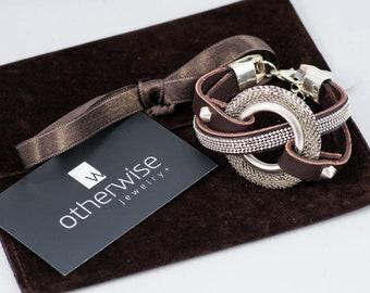 Leather Jewelry, Statement Jewelry, Statement Bracelet, Unique Jewelry, Handmade Jewelry, Handmade Bracelet, Strong Bracelet, BR-186