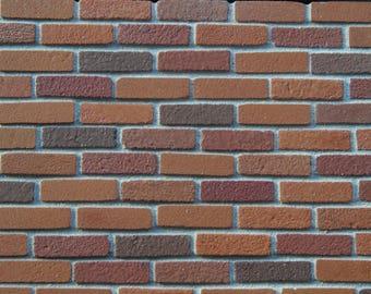 100 1:12th Scale Miniature Multi Red Brickslips