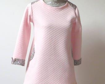 Girls fleece long sleeve dress