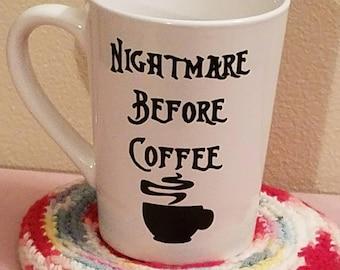 Nightmare Before Coffee Mug, Coffee Mug, Nightmare Before, Tea Cup, Mother's Day, Gift, Birthday, Mug, Cup, Present, Coffee, Hot Tea