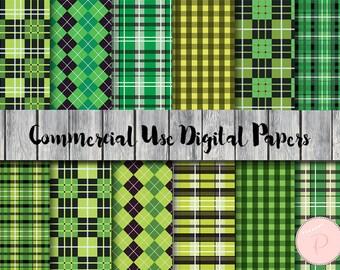 Bayadere Stripes Digital Paper, Green digital paper, St patrick Paper, Commercial Use, Scrapbook Digital Papers, Digital Background, dp52