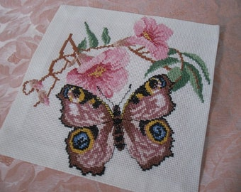 Fiori punto croce etsy for Punto croce fiori e farfalle