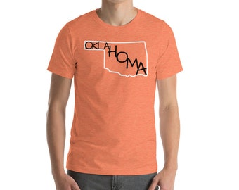 Oklahoma State Art Name Shirt Hand Drawn Hand Lettering Hand Writing Tee Short Sleeve Top