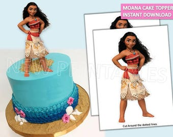 Moana Cake Toppers/ Moana Cake/ Printables/ Instant Download/ Moana Party/ Moana centerpiece/ Invitation/ You Print 60% OFF