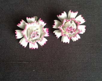 40s clip-on ear-rings (pink)