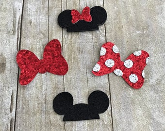 Mouse Glitter Hair Clips