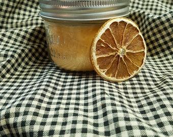 Candle jar mason - orange cinnamon