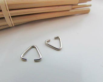 50 clip pendant bail metal silver 6 x 3 mm - 2 mm cord space - ref 284.7