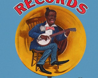 Reproduced vintage Edison Gold Moulded Records National Phonograph Co. Canvas Print