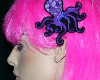 Purple Octopus Embroidered Headband MTCoffinz