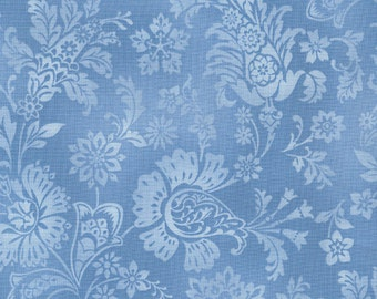True Blue Tonal Jacobean Blue by Timeless Treasures Geo-C4268-Blue