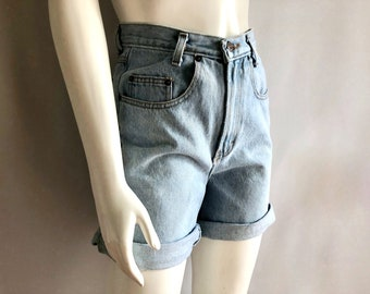 Vintage Women's 90's Jordache, Jean Shorts, High Waisted, Light Wash, Denim (M)