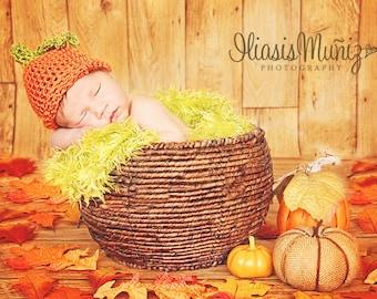 Ready to ship Pumpkin Hat  Fall Pumpkin Hat Toddler Pumpkin Hat  Newborn Pumpkin Hat Child Pumpkin Hat