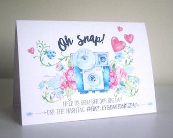 Social Media Wedding Card, Social Media Card, Instagram Wedding Card, Hashtag Card