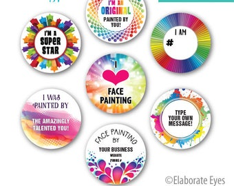 Print-Your-Own STICKERS - Face Painting Sticker Templates