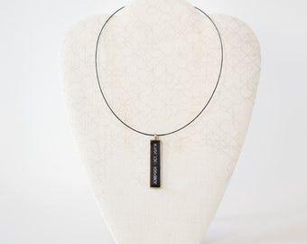 Black Wire Choker (Necklace Only) with Magnetic Clasp