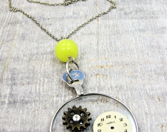 Re-purposed Vintage Opticians Lens Necklace
