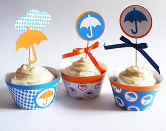 Set of  6 party WRAPPERS & TOPPERS