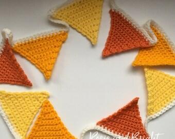 Custom made crochet bunting garland