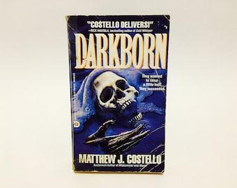 Vintage Horror Book Darkborn by Matthew J. Costello 1992 Paperback