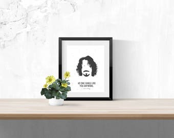 Chris Cornell Print - Music Poster