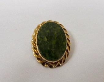 On Sale Vintage Green Jade Pin Item K # 2271