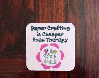 Dessous de verre artisanat - Fun Coasters - Fun Coaster Set - papier d'artisanat est moins cher que la thérapie
