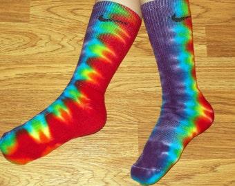 Tie Dye Nike Socks, Rainbow nike tie dye socks