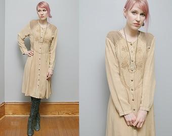 VTG 70's PHOOL Ethnic Bohemian Dress Made in India - M