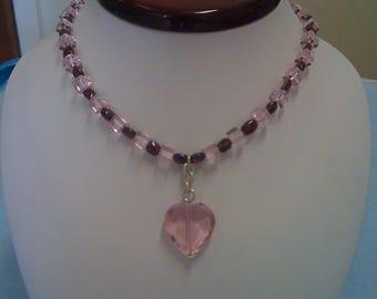 Kristall-Herz-Form-Halskette