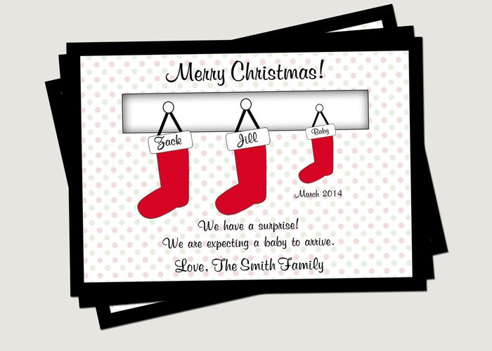 Superb Christmas Cards Baby Announcement