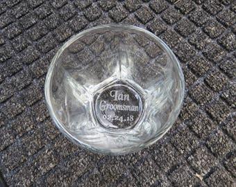 Groomsman Personalized Gift 1 Shot Glass
