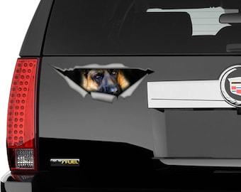 German Shepherd  decal, pet decal , car decal, german shepherd sticker