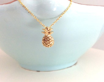 Pineapple Necklace Gold Pineapple Necklace Dainty Gold Necklace Gifts for Her Best Friend gift Girlfriend Gifts birthday best selling items