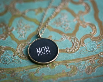 Mothers Day Gift - Mom Necklace - Miniature  Pendant - Vintage Typewriter Key Inspiration