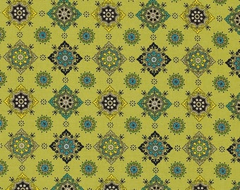 29017  Denyse Schmidt Ansonia - Medallion in Mossy  color -  1/2 yard