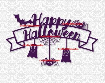 Halloween Svg, Happy halloween svg, Halloween svg files, Spider Svg, Ghost Svg, Bat Svg, Halloween Shirt Svg, Halloween sign svg, Silhouette
