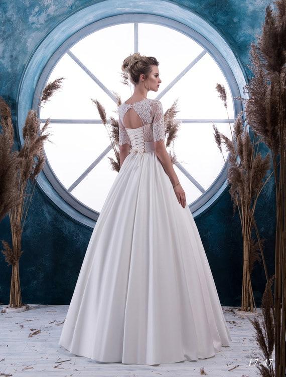 Satin Ball Lace NYC wedding dress Donna wedding gown dress Wedding from dress wedding dress Bride RTUnUH