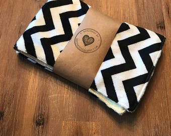Baby Lovey Blankie Soft Minky Chevron and Butter Yellow- baby shower gift baby gift baby boy baby girl neutral baby