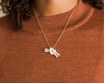 Porcelain Knot Necklace