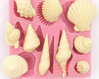 Clay mold Mini Conch seashell snail shape Fondant cake mold silicone sugar craft mould chocolate mold decoration for cake  kitchen tools